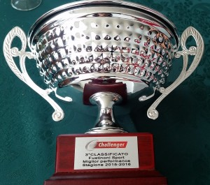 premio CHALLENGER miglior performance 2016 fustinoni sort