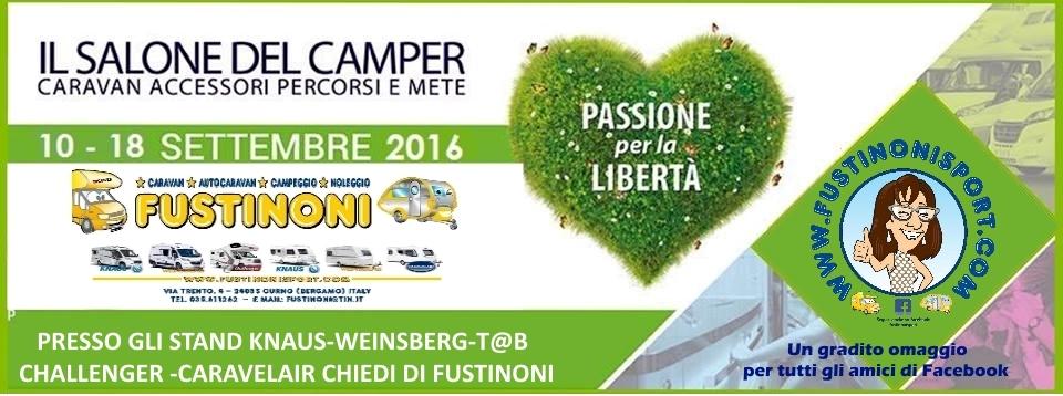 FUSTINONI AL SALONE DEL CAMPER DI PARMA 2016